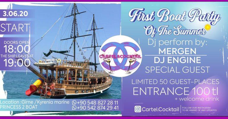 3 июня состоится первая эксклюзивная вечеринка на корабле!