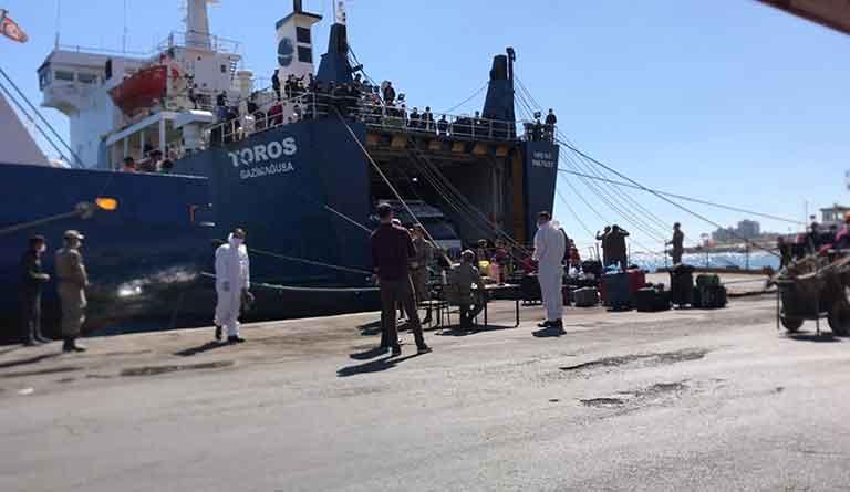 150 человек въехали на Северный Кипр через порт Фамагусты