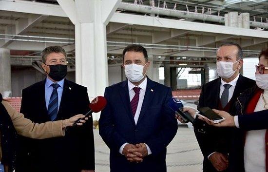 Премьер-министр Эрсан Санер посетил новый терминал в аэропорту Эрджан