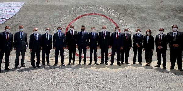 Церемония открытия ирригационного тоннеля в Гюзельюрте
