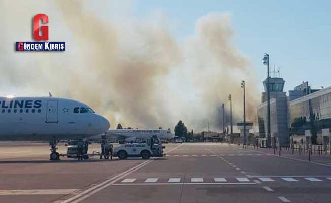 В аэропорту Эрджан вспыхнул пожар